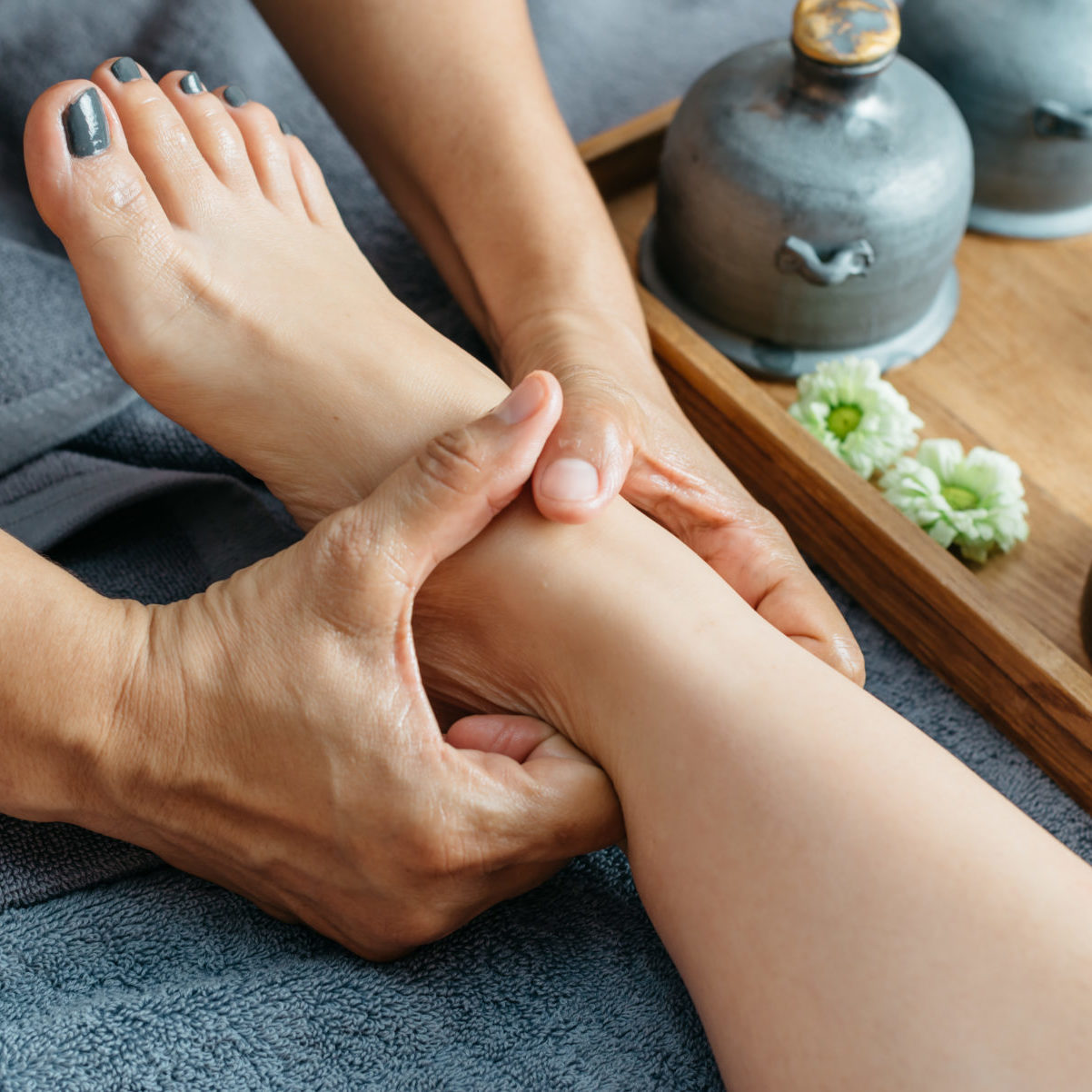 Thai foot  and leg massage series